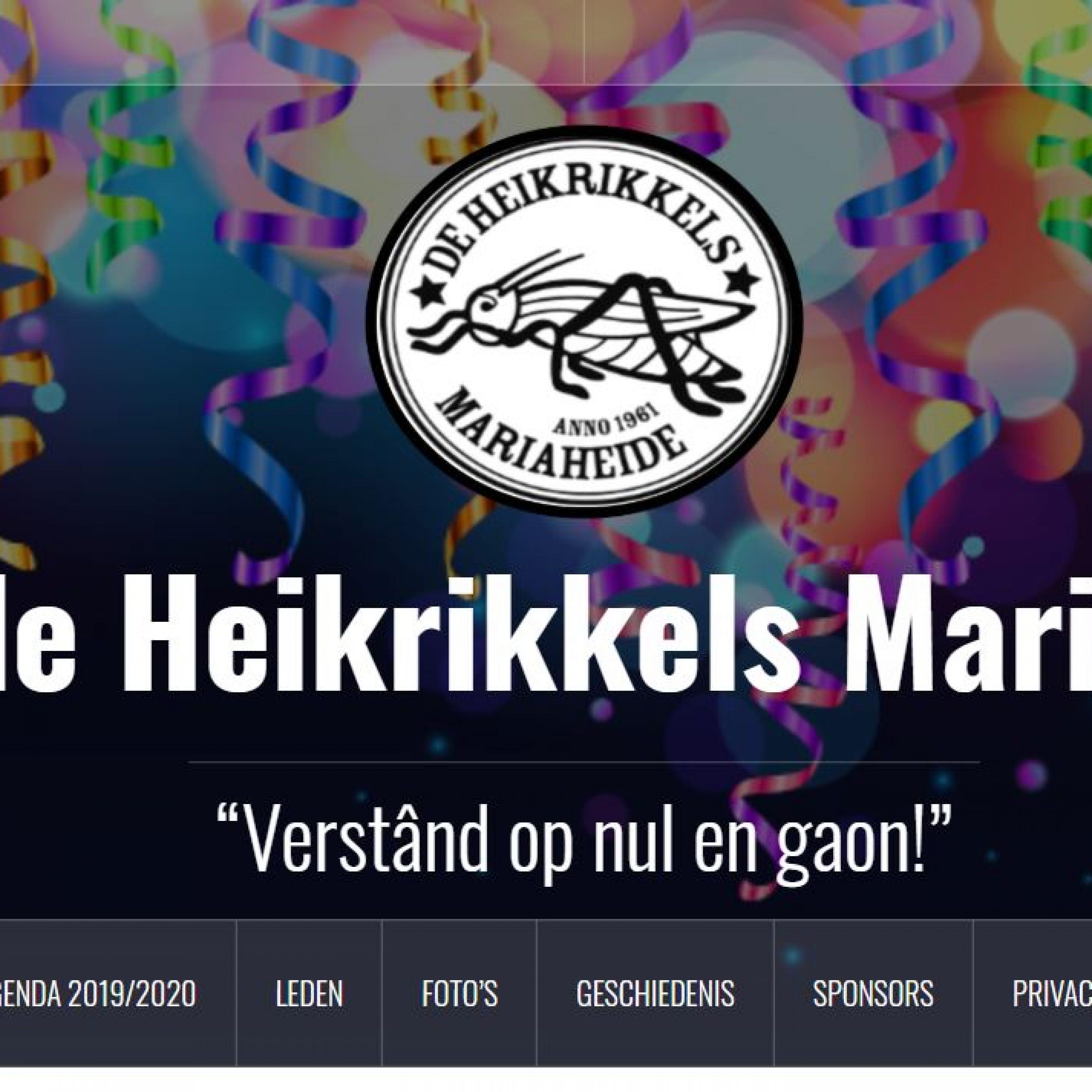 Website heikrikkels Mariaheide Veghel